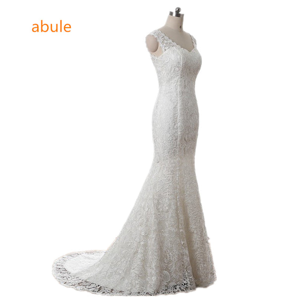 abule 2017 Bridal Summer Sexy Lace sleeveless Beach Wedding Dress Boho Robe De Mariage Bridal Gown Casamento Real photo