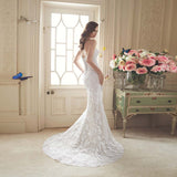 Sexy Removable Long Train Lace up Bridal Gown with Crystal Beading Sweetheart Tulle Lace Beach Wedding Dress