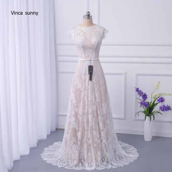 vinca sunny 2017 Bridal Boho Lace Wedding Dress 2018 Wedding Dresses Court Train vestidos de noiva robe de mariage Robe de Maria