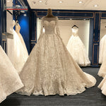 2018 Long Train Luxury Real Photos Wedding Dresses Amanda Novias