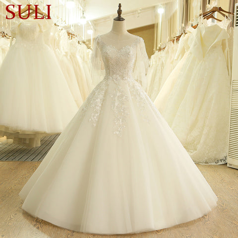 SL-202 Cheap Short Sleeve 2017 Boho Wedding Dress China