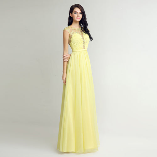 2017 New Arrive Long Prom Dresses 2017 With Sexy Back Floor Length High Quality Chiffon Crystal Gown Vestido De Festa LSX270