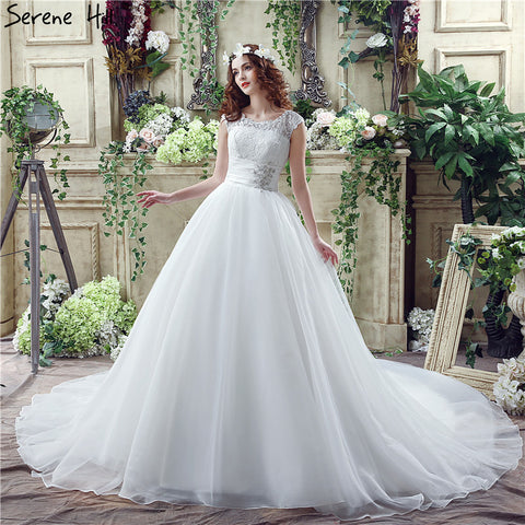 White Vintage Ball Gown Wedding Dresses 2017 Crystal Sleeveless Fashion Sexy Bridal Gowns Robe De Mariage Real Photo