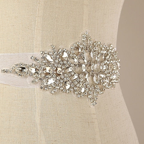 Wedding Accessory~~All Match Brilliant Crystal Rhinestone Wedding Belt(can be made multi-color)D737