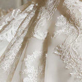 Cathedral Train Sweetheart Neck Full Appliques Lace Bridal Gown Wedding Dress Long High Quality