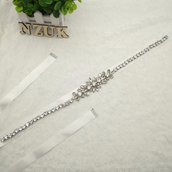 Women's Handmade Wedding Bride Bridesmaid Crystal Rhinestone Sash Belt y166 For the Wedding Evening Party Bridal Dress