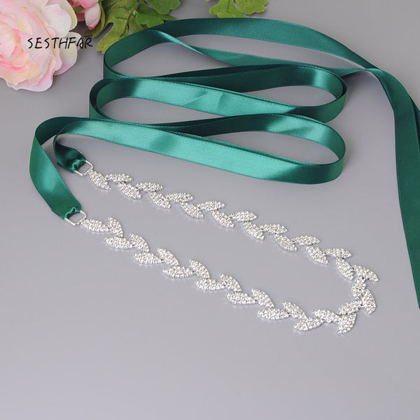 S198-S Rhinestones Evening Party Prom Dresses Accessories Wedding Belts Sashes,Bride Waistband Bridal Sashes Belts