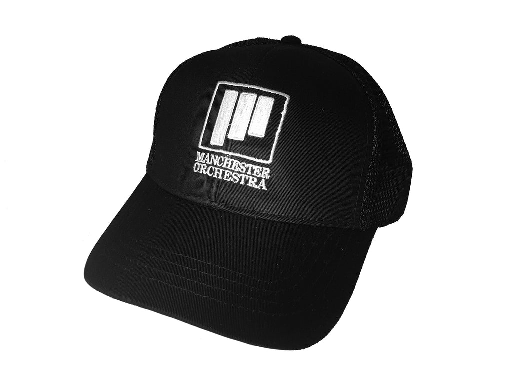 3 Lines Trucker Hat W Black Mesh