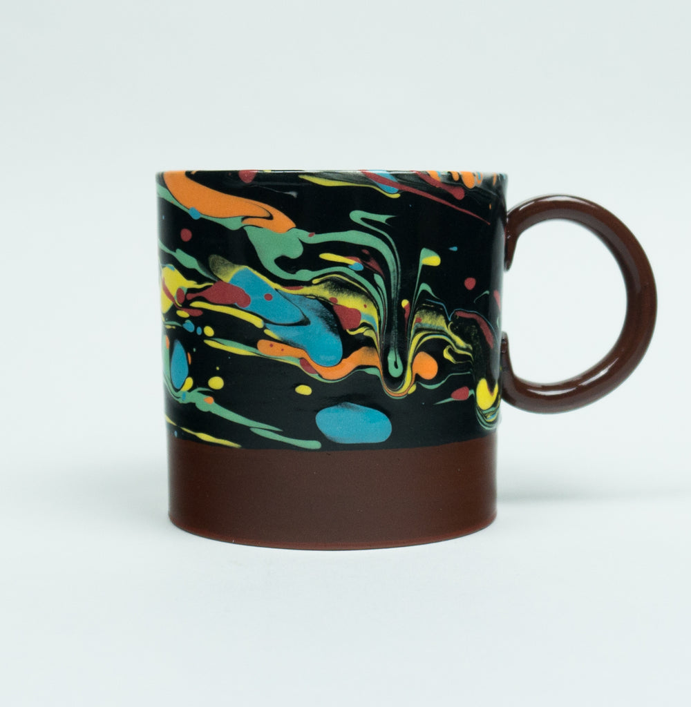 Small Round Handled Cosmic Marbleware Cup
