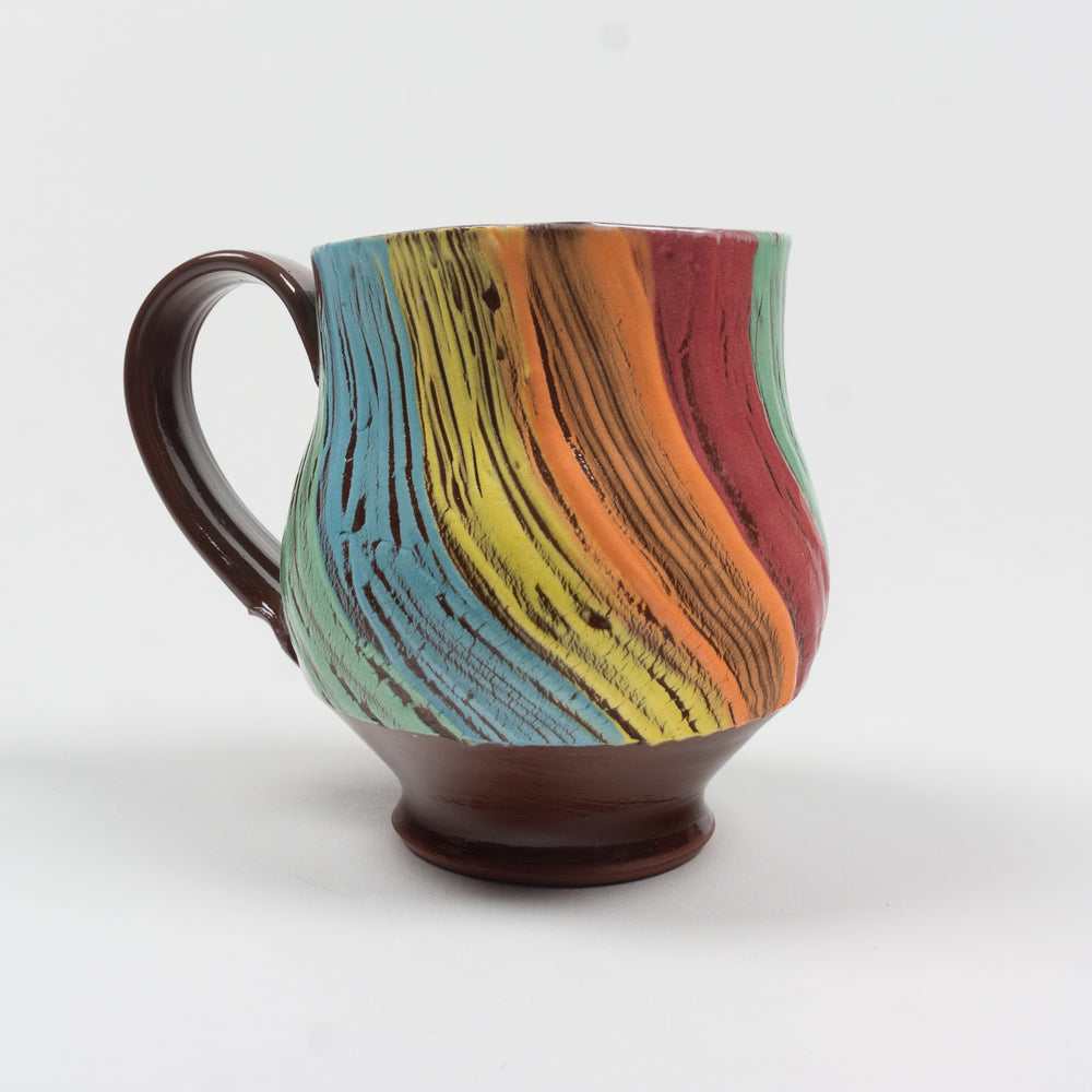 Small Rainbow Expansionware Beaker Cup