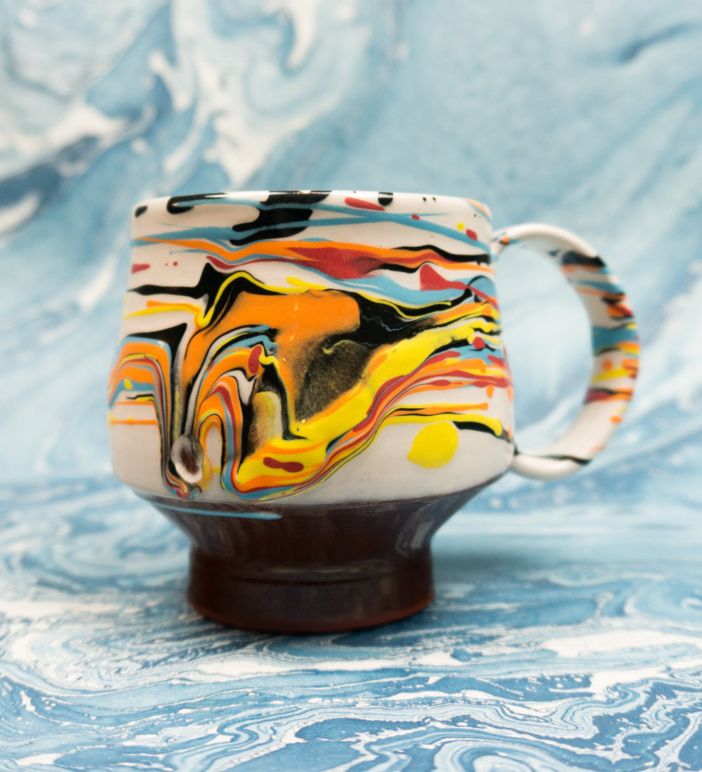 Classic Handled Marbleware Cup