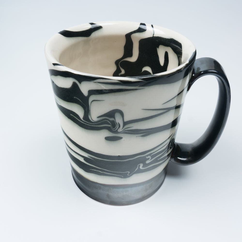 Large Strap Handle Marbleware Cup