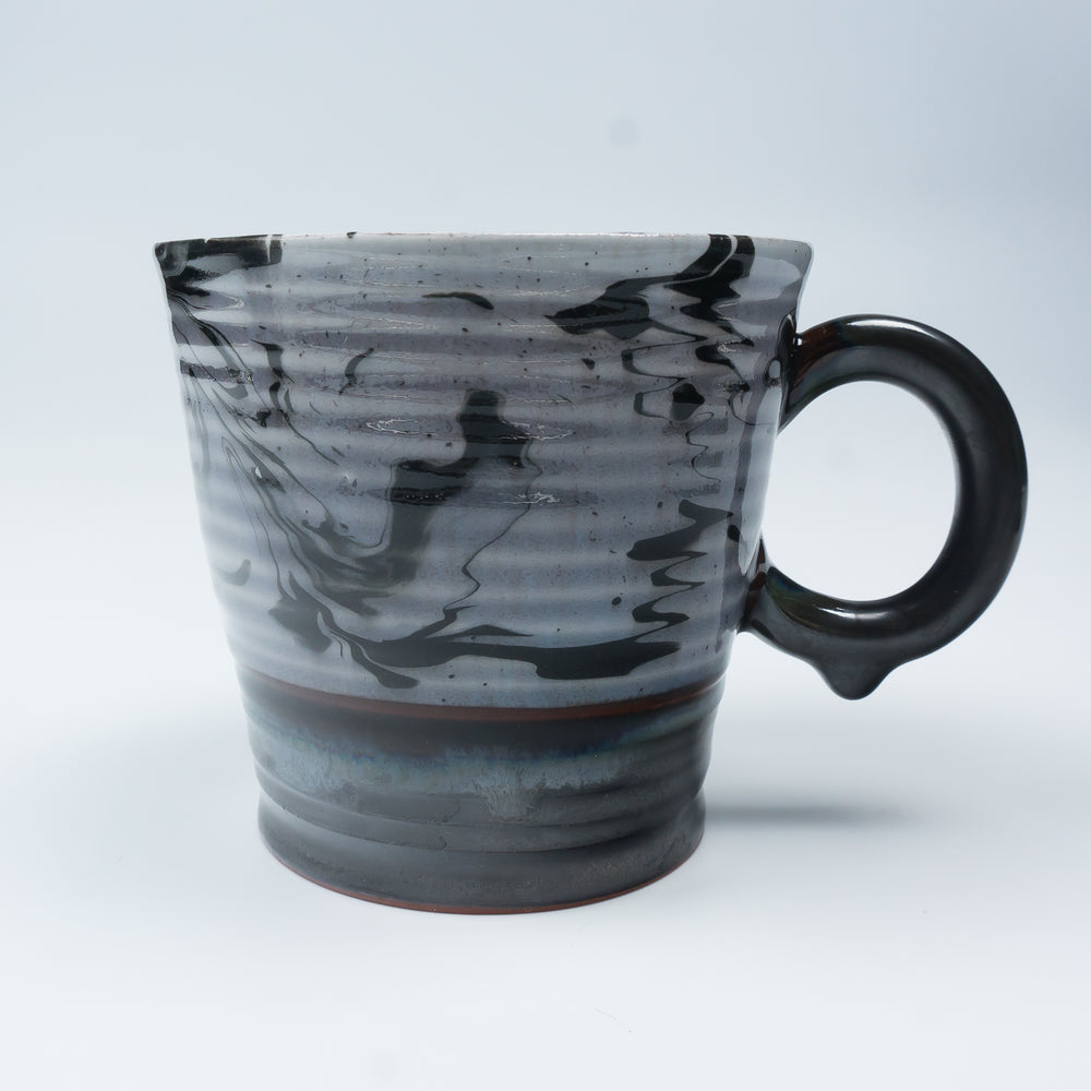 Round Handle Midnight Marbleware Cup