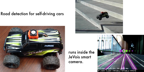 Autonomous driving with JeVois