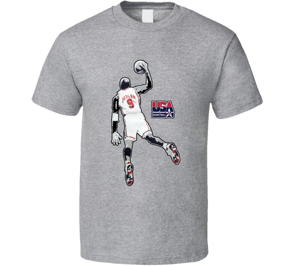 Micheal Jordan Barcelona Olympics Team Usa T Shirt