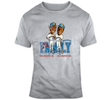 Ken Griffey Jr And Sr Baseball Seattle Distressed Retro Caricature T Shirt
