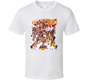 Los Angeles Basketball Magic Johnson Team Retro Caricature T Shirt