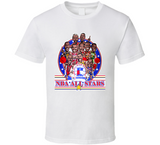 1991 Basketball All Star Retro Caricature T Shirt