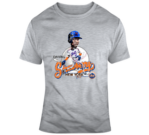 Darryl Strawberry Baseball Bny Distressed Retro Caricature T Shirt
