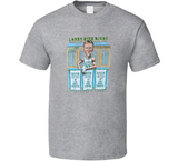 Larry Bird Banner Night Boston Basketball Distressed Retro Caricature T Shirt