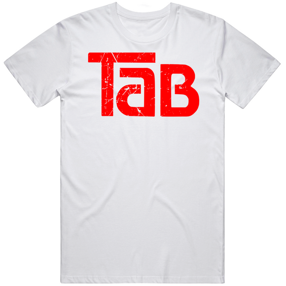Tab Cola Retro Soft Drink Beverage 1980s Distressed T Shirt