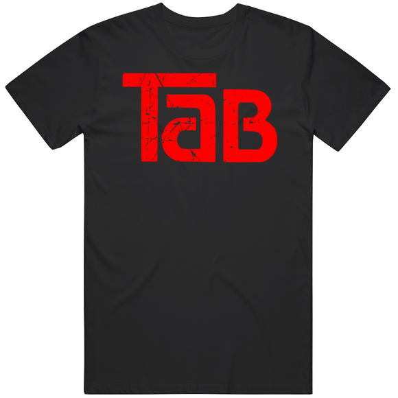 Tab Cola Retro Soft Drink Beverage 1980s Distressed V2 T Shirt