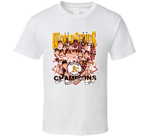 1989 Oakland Baseball Champions Retro Caricature T Shirt