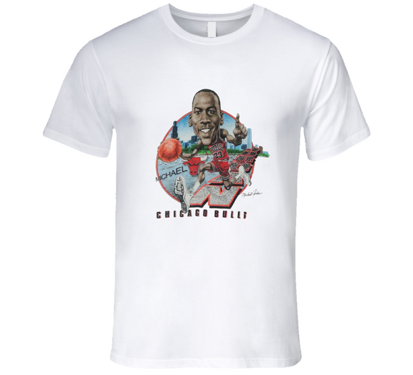 Michael Jordan Caricature Basketball Retro Chicago Goat T Shirt