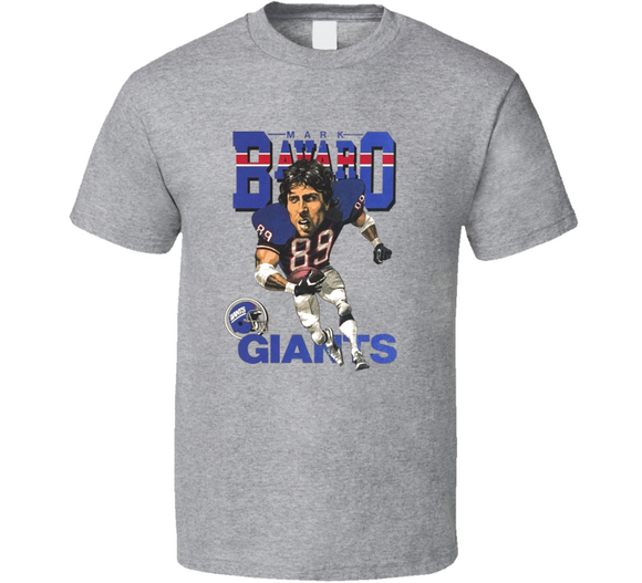 Mark Bavaro New York Football Retro Caricature T Shirt