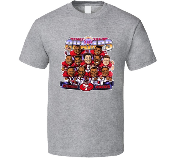 San Francisco Football Steve Young Retro Caricature T Shirt
