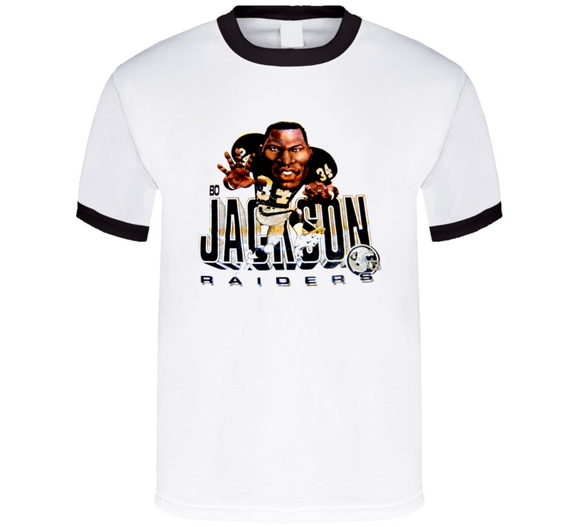 Bo Jackson Bo Los Angeles Football Retro Caricature T Shirt