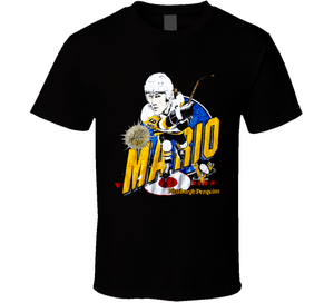 Mario Lemieux Pittsburgh Hockey Retro Caricature T Shirt