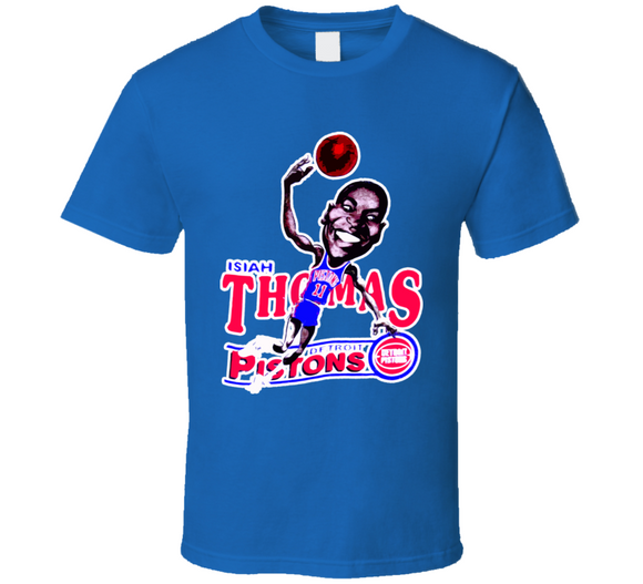 Isiah Thomas Basketball Retro Caricature T Shirt