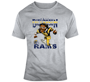 Eric Dickerson Los Angeles Football Distressed Retro Caricature T Shirt