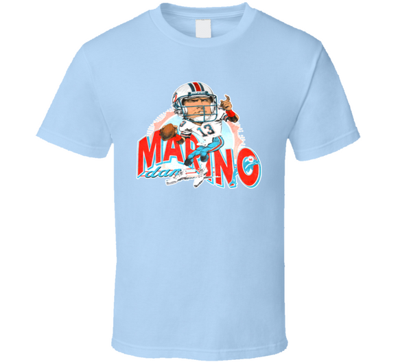 Dan Marino Football Retro Caricature T Shirt