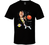Magic Johnson Los Angeles Basketball Legend Caricature T Shirt