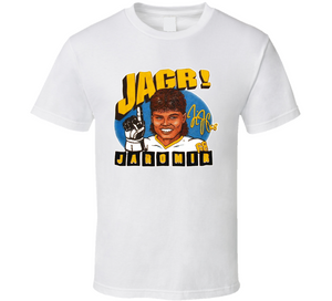 Jaromir Jagr Pittsburgh Hockey Retro Caricature T Shirt