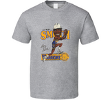 Larry Smith Golden State Basketball Retro Caricature T Shirt