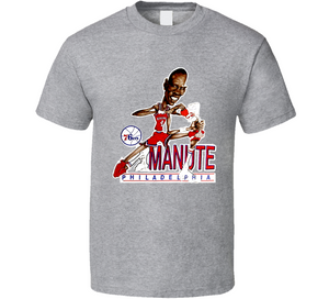 Manute Bol Philadelphia Basketball Retro Caricature T Shirt