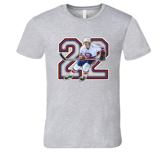 Mike Bossy New York Hockey Legend Retro Sports T Shirt