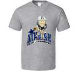 Troy Aikman Dallas Football Retro Caricature T Shirt