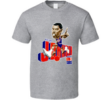 Kevin Johnson Phoenix Basketball Retro Caricature T Shirt