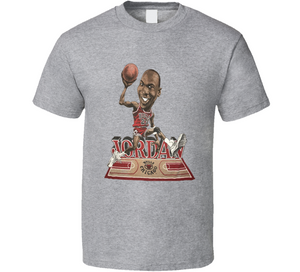 Michael Jordan Goat 23 Chicago Retro Basketball Caricature T Shirt