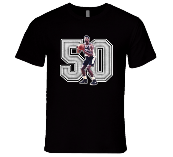 David Robinson San Antonio Basketball Legend Retro Sports T Shirt