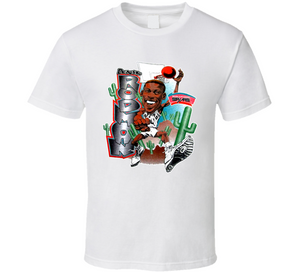 Dennis Rodman San Antonio Basketball Retro Caricature T Shirt