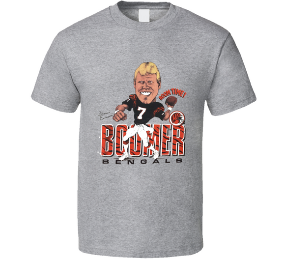 Boomer Esiason Cincinnati Football Retro Caricature T Shirt