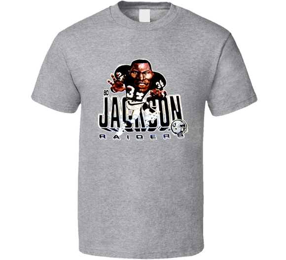 Bo Jackson LA Los Angeles Football Retro Caricature T Shirt