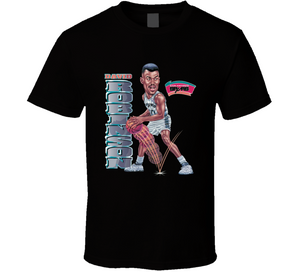 David Robinson San Antonio Basketball Retro Caricature T Shirt
