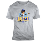 George Brett Baseball Kc Distressed Retro Caricature T Shirt