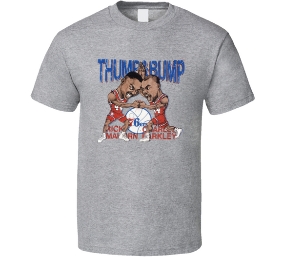 Charles Barkley Rick Mahorn Thump Bump Basketball Retro Caricature T Shirt